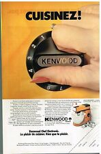 Publicité Advertising 1979 Le Robot de Cuisine Kenwood Chef Electronic
