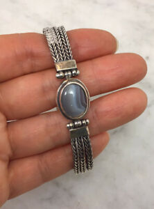 EXEX CLAUDIA AGUDELO Sterling Silver Agate Bracelet