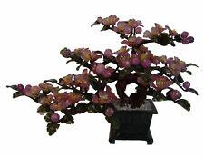 Chinese Purple Jade Stone Peony Flowers Tree