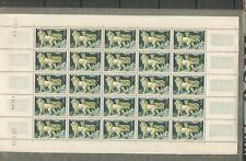 feuille de 25 timbres afrique équatoriale française 2 francs lion et lionne