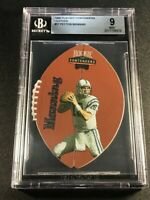 PEYTON MANNING 1998 PLAYOFF CONTENDERS #37 DIE CUT LEATHER ROOKIE RC MINT BGS 9