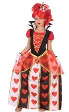 Déguisement Fille Reine de Coeur 7/8/9 ans Costume Enfant Dessin Animé Alice