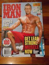 IRONMAN bodybuilding muscle magazine BRANDAN FOKKEN 8-17