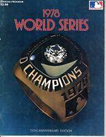 1978 World Series program Los Angeles Dodgers vs. New York Yankees, unscored~ Fr