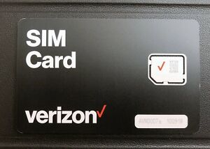 Verizon Micro Sim Cards, Unactivated, Brand New