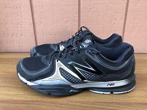 EUC New Balance MX1267BK Men US 14 D  Black Silver Tennis Running Shoes C8