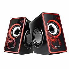 Marvo portables Stereo Lautsprecher System Speakers Box subwoofer Schwarz/Rot