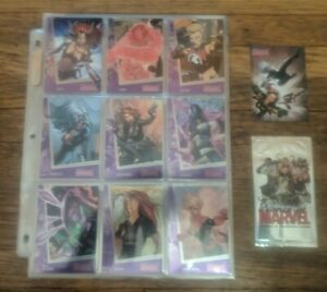 2013 Rittenhouse Women of Marvel Series 2 Base Set #1-90 with Promo and Wrapper