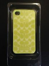 NIB Coach Snap On Case iPhone 4/4S-Chartreuse