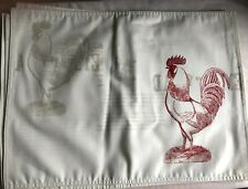 New listing New~Williams Sonoma: Four (4) Oversize Graphic Rooster Cotton Placemats