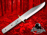 CUSTOM BLANK Knife Making Blade Clip Point Bowie Knives w/Brass Guard Bolster #8