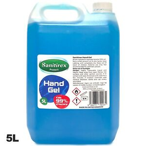 70% Alcohol Hand Sanitizer GEL 5 Litre Antibacterial Sanitiser 5L Kills 99.99%