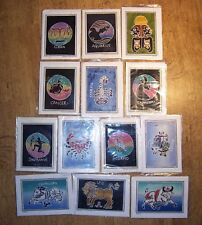 Wholesale Lots 24 ZODIAC hand made crafted BATIK ART cards GIFTS Retail £72-£95