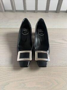 Roger Vivier Black Patent Leather Shoes 37