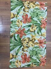 TROPICAL FLORAL SHAM KING SIZE HIBISCUS GOLD ORANGE GREEN PALM LEAVES PARADISE