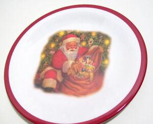 Pottery Barn Kids Night Before Christmas Plates Santa With Bag of Toys Set of 4