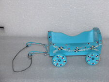 VINTAGE WOODEN AND METAL TOY - CART, PAINTED DECORATION
