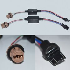 2 x 7443 T20 LED WARNING CANCELLER DECODERS PRE-WIRED SOCKET PLUG/PLAY F
