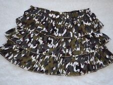 Lane Bryant Plus Size Skirt Tiered Camo Green Brown Ruffle Elastic Waist 18 20