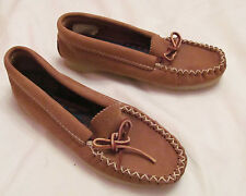 HIAWATHA BASTIEN CANADA hand made soft leather  moccasins flats shoes 5 NEW