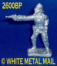 Military Lead Casting LA2600BP 24th Foot British Officer Standing Firing