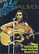 Let It Rock Magazine.  June 1974 Paul Simon Cover.Chilli Willi Gong Brian Wilson