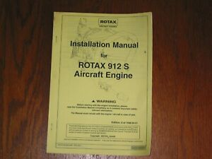 INSTALLATION MANUAL FOR ROTAX 912 S AIRCRAFT ENGINE P/N 899 376