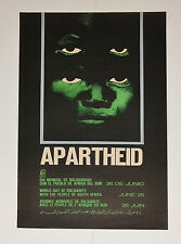 1971 Original OSPAAAL Political Poster.Anti-Colonialism Apartheid.SOUTH AFRICA