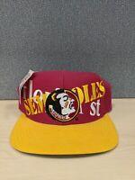 Florida State Seminoles FSU Logo Athletic Logo 7 Snapback Vintage Cap Hat NWT