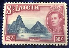 St Lucia 2/- Blue  And Mauve Definitive 1938 SG 136 cat value £11 in 2016