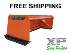 6' Xp24 pullback orange snow pusher Free Shipping skid steer Bobcat Kubota