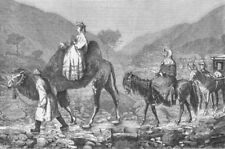 CHINA. Part. Travelling in-Mongols going to Beijing, antique print, 1873