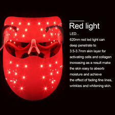 Red LED Light Electric Photon Facial Mask Skin Rejuvenation Therapy Anti Wrinkle