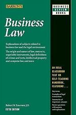 Business Law 5th Edition (Barron's) Robert Emerson ISBN 13: 978-0764142406