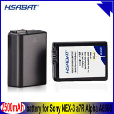 HSABAT NP-FW50 NP FW50 2500mAh Battery for Sony Alpha a6500 a6300 a7 7R a7R a7R
