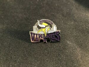 NEW Minnesota Vikings Die Cut Collectible Lapel Pin - NOS Vintage Stock