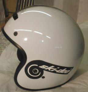 New Retro Style Vintage Ski-Doo Snowmobile Helmet White