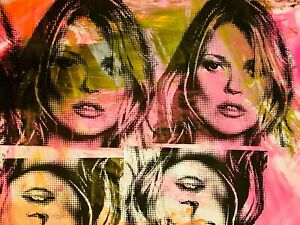 MR CLEVER ART KATE MOSS MULTIPLES PAINTING abstract pop contemporary street art