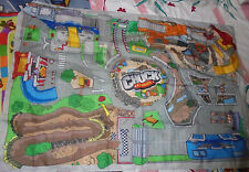 "GUC Chuck and Friends Hasbro Tonka 53""x35"" play mat travel toy H2F"