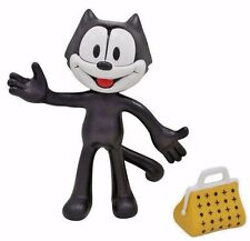 New Big Felix the Cat Toy 5 Inch Figure TV Bendable Doll Black & White Cartoon