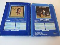Lot of 2 Roy Clark 8 Track Tapes The Entertainer and Come Live with Me