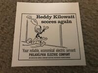 Vtg 1966 REDDY KILOWATT PHILADELPHIA ELECTRIC COMPANY Print Ad 1960s EAGLES PECO