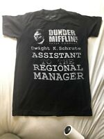 Dunder Mifflin INC Paper Company The Office Graphic Tee Shirt Small Black