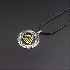 Viking Mythology Myopia Triangle Nordic Pirate Pendant Necklace 1pcs