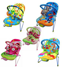 Baby Rocker Bouncer Reclining Chair Soothing Music Viberation Toys 5 Designs