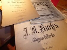 Old music scores for organ The Village organist bk41/american Henry Mark 1920s ?
