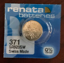 Renata 371 Battery (SR920SW) Swiss Made 1 pc