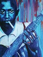 Robert Johnson NEW ORLEANS French Quarter, art, print, music blues Richard Lewis