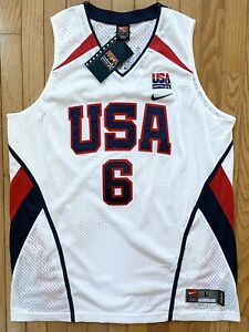 Nike Authentic Olympic Team USA Lebron James Jersey Lakers Large New Tags