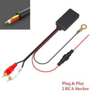 Car Bluetooth 5.0 Radio Stereo Audio Cable Adapter 2RCA Connector Music Aux Kit